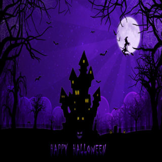 Halloween purple
