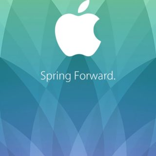 Apple logo spring events patina purple spring forward.