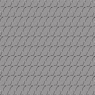 Pattern round wave black and white