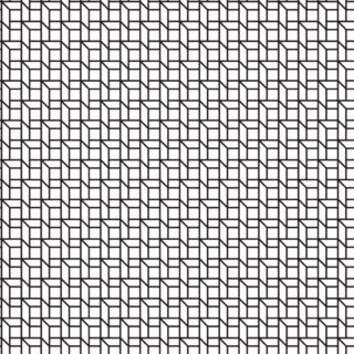Pattern square black-and-white