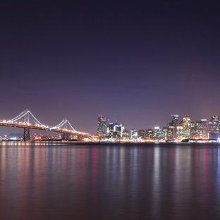 Landscape night view harbor Apple Watch photo face Wallpaper