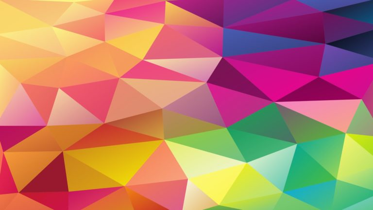 Pattern polygon colorful Desktop PC / Mac Wallpaper
