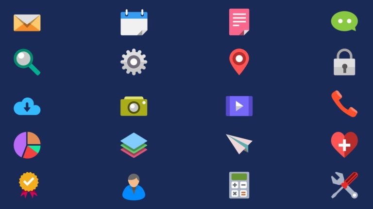 Illustration icon navy blue Desktop PC / Mac Wallpaper