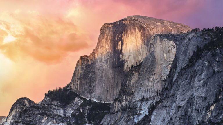 Landscape mountain Apple Mac OSX Yosemite Desktop PC / Mac Wallpaper