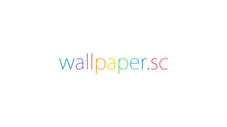wallpaper.sc logo white Desktop PC / Mac Wallpaper