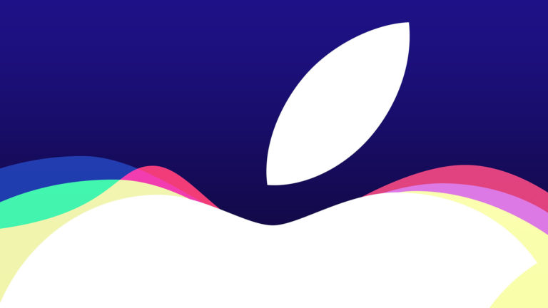 Apple logo event purple Desktop PC / Mac Wallpaper