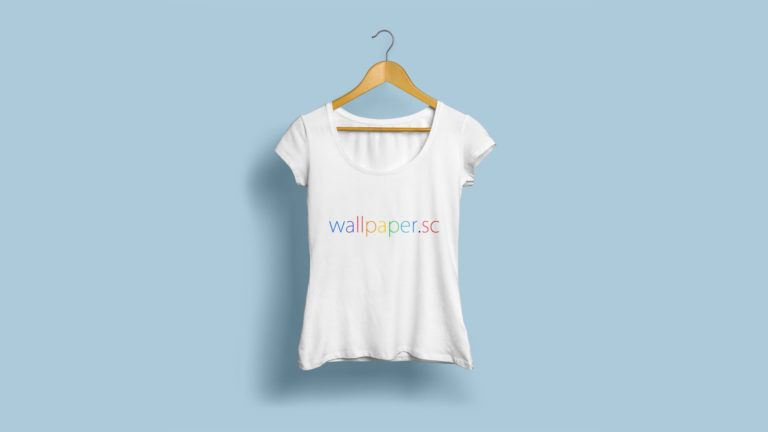 wallpaper.sc T-shirt light blue Desktop PC / Mac Wallpaper