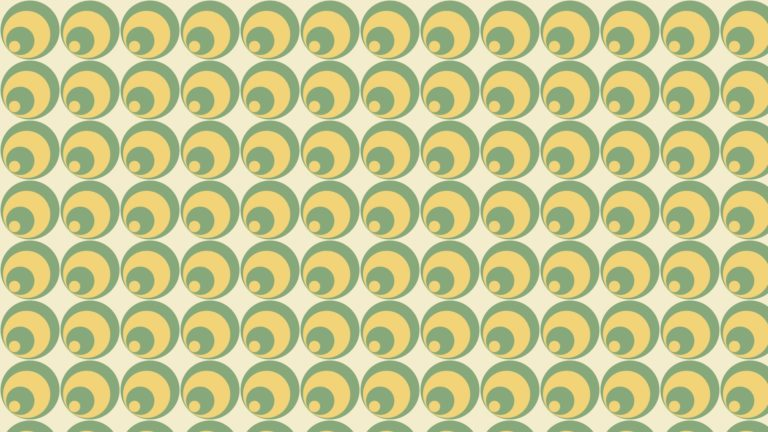 Pattern circle green yellow Desktop PC / Mac Wallpaper