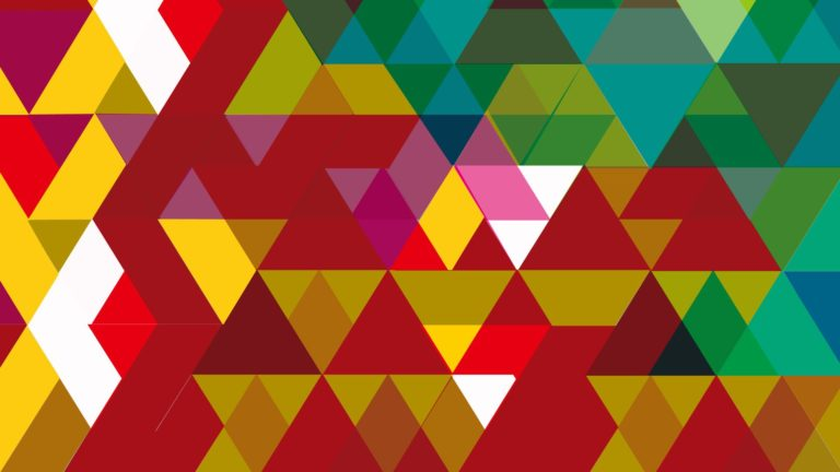 Pattern triangle red brown green Desktop PC / Mac Wallpaper