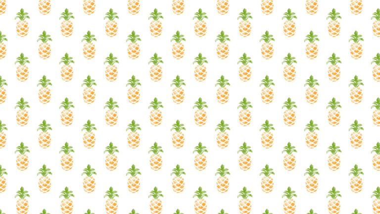 Pattern illustration fruit pineapple greenish yellow women-friendly Desktop PC / Mac Wallpaper