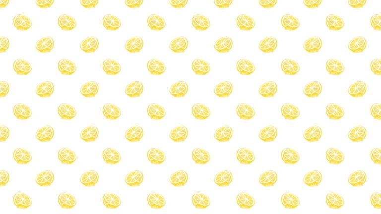 Pattern illustration fruit lemon yellow women for Desktop PC / Mac Wallpaper