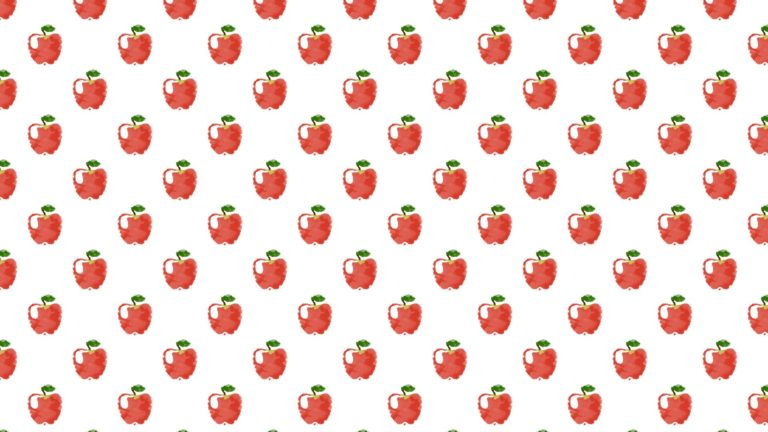 Pattern illustration fruit apple red women-friendly Desktop PC / Mac Wallpaper
