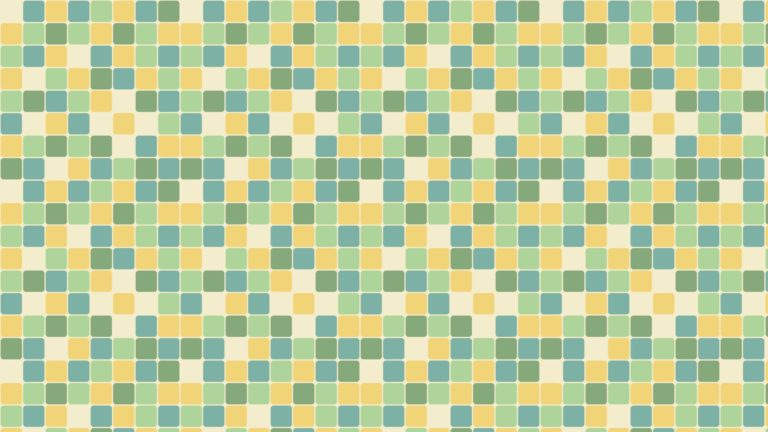 Pattern square blue green yellow Desktop PC / Mac Wallpaper
