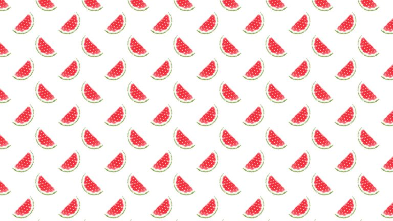 Pattern illustration fruit watermelon red women-friendly Desktop PC / Mac Wallpaper