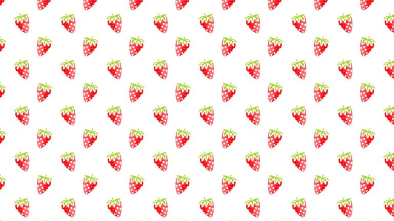 Pattern illustration fruit strawberry red women-friendly Desktop PC / Mac Wallpaper