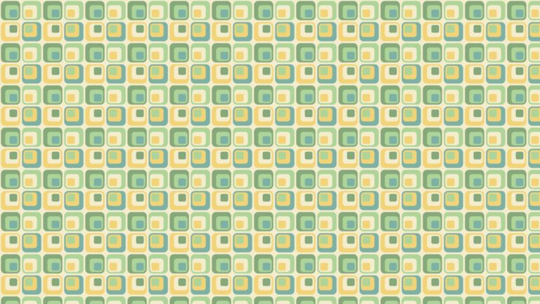 Pattern square green yellow Desktop PC / Mac Wallpaper