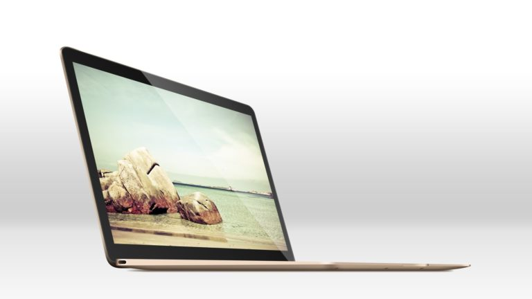 New MacBook Gold Cool Desktop PC / Mac Wallpaper