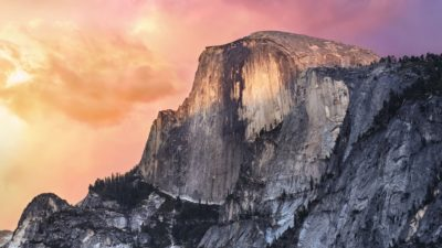 Landscape mountain Apple Mac OSX Yosemite