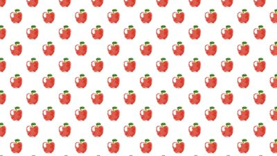 Pattern illustration fruit apple red women-friendly