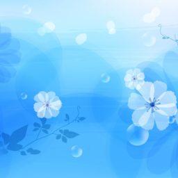 Pattern  blue  flower iPad / Air / mini / Pro Wallpaper