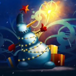 Christmas snowman iPad / Air / mini / Pro Wallpaper