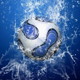 Cool blue soccer iPad / Air / mini / Pro Wallpaper