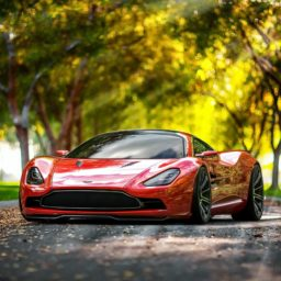 Vehicle car red iPad / Air / mini / Pro Wallpaper