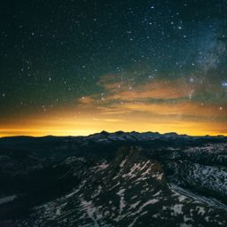 Mountain landscape night sky iPad / Air / mini / Pro Wallpaper