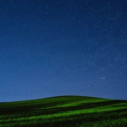 View the night sky green iPad / Air / mini / Pro Wallpaper