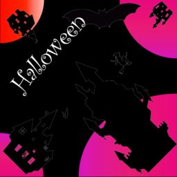 Illustration Halloween purple black iPad / Air / mini / Pro Wallpaper