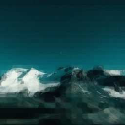 Landscape snow mountain blue green iPad / Air / mini / Pro Wallpaper