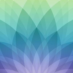 Pattern Apple spring events, green, and blue purple iPad / Air / mini / Pro Wallpaper