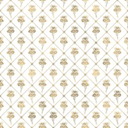 Illustrations pattern gold plant flowers iPad / Air / mini / Pro Wallpaper