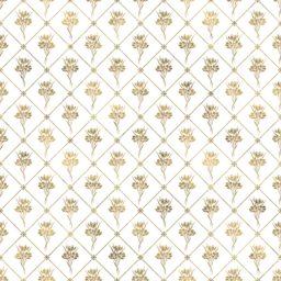 Illustrations pattern gold plant flowers iPad / Air / mini / Pro Wallpaper