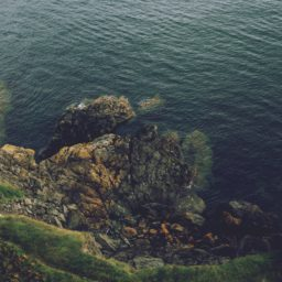 Landscape cliff sea iPad / Air / mini / Pro Wallpaper