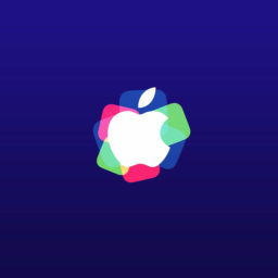 Apple logo event purple iPad / Air / mini / Pro Wallpaper