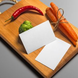 Cutting board vegetables card iPad / Air / mini / Pro Wallpaper