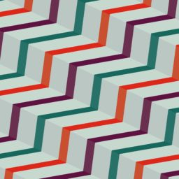 Pattern stairs stripe purple red green iPad / Air / mini / Pro Wallpaper