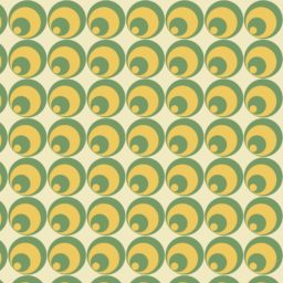 Pattern circle green yellow iPad / Air / mini / Pro Wallpaper