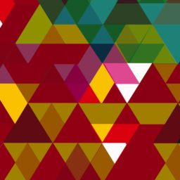Pattern triangle red brown green iPad / Air / mini / Pro Wallpaper