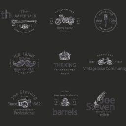 Pattern logo black iPad / Air / mini / Pro Wallpaper