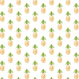 Pattern illustration fruit pineapple greenish yellow women-friendly iPad / Air / mini / Pro Wallpaper