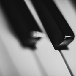 Piano cool black-and-white iPad / Air / mini / Pro Wallpaper