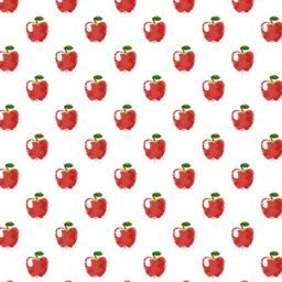 Pattern illustration fruit apple red women-friendly iPad / Air / mini / Pro Wallpaper