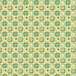Pattern square green yellow iPad / Air / mini / Pro Wallpaper