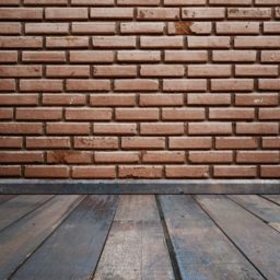 Brick wall floorboards iPad / Air / mini / Pro Wallpaper