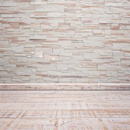 White stone wall floorboards iPad / Air / mini / Pro Wallpaper
