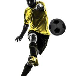 Soccer ball yellow black iPad / Air / mini / Pro Wallpaper