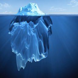 Landscape drift ice blue iceberg iPad / Air / mini / Pro Wallpaper