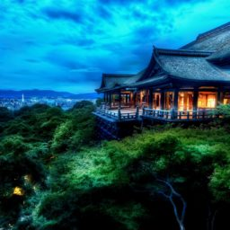 Landscape Kiyomizu Temple green iPad / Air / mini / Pro Wallpaper